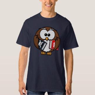 Cartoon Owl Holding Banned Books T-Shirt