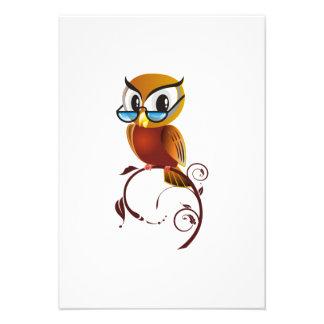 Cartoon Owl on Branch Announcements