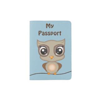 Cartoon Owl Passport Holder