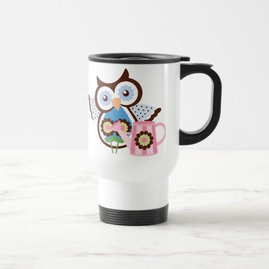 cartoon Owl travel mug