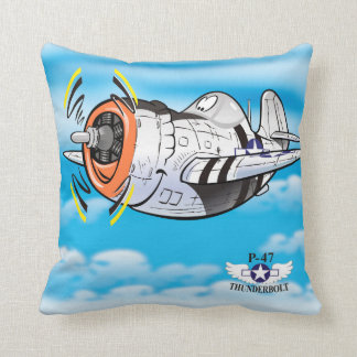 Cartoon P-47 thunderbolt plane Cushion