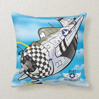 Cartoon P-47 thunderbolt plane Cushion
