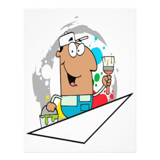 cartoon painter character 21.5 cm x 28 cm flyer