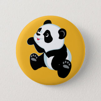 cartoon panda 6 cm round badge