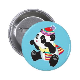 cartoon panda 6 cm round badge