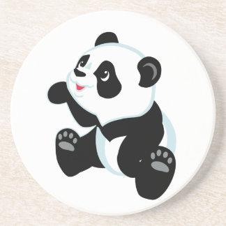 cartoon panda beverage coaster