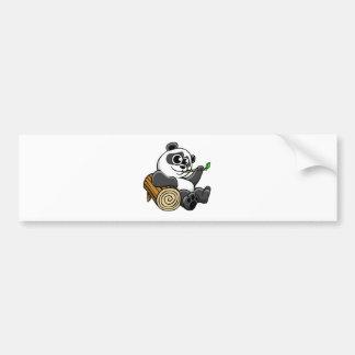 Cartoon Panda Bumper Sticker