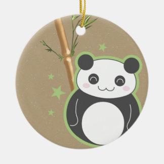 Cartoon Panda Christmas Ornament