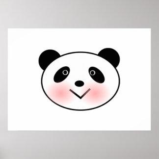 Cartoon Panda Face Posters