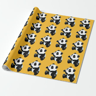 cartoon panda wrapping paper