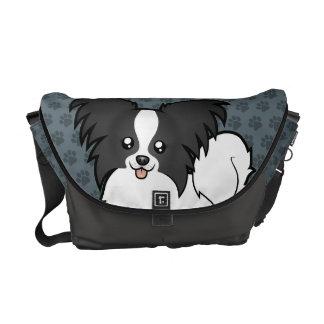 Cartoon Papillon Messenger Bag