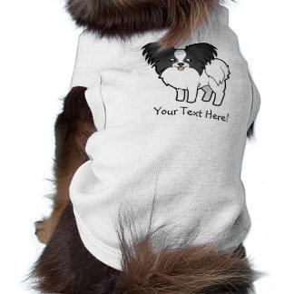 Cartoon Papillon Sleeveless Dog Shirt