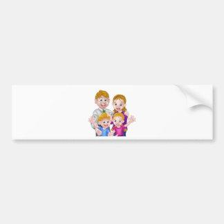 Cartoon Parents and Kids Bumper Sticker