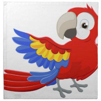 Cartoon Parrot Character Napkin