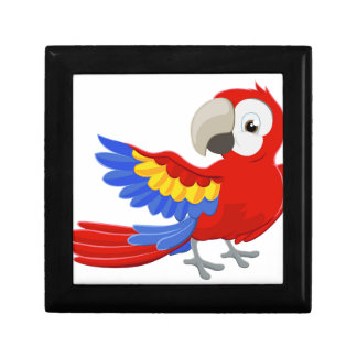 Cartoon Parrot Character Small Square Gift Box