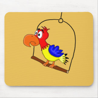 Cartoon parrot mouse mat