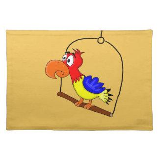 Cartoon parrot placemat