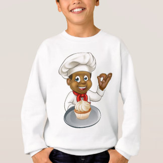 Cartoon Pastry Chef Baker With Fairy Cake Sweatshirt