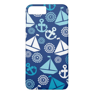 Cartoon Pattern With Sailboats iPhone 8 Plus/7 Plus Case