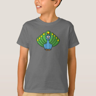 Cartoon Peacock - Kids T-Shirt