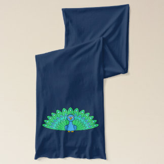 Cartoon Peacock Scarf