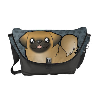 Cartoon Pekeingese (puppy cut) Messenger Bag