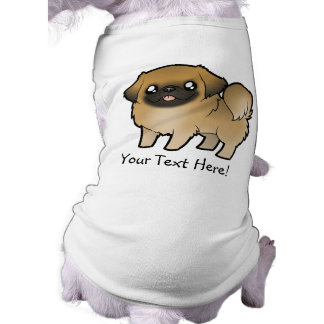 Cartoon Pekeingese (puppy cut) Sleeveless Dog Shirt