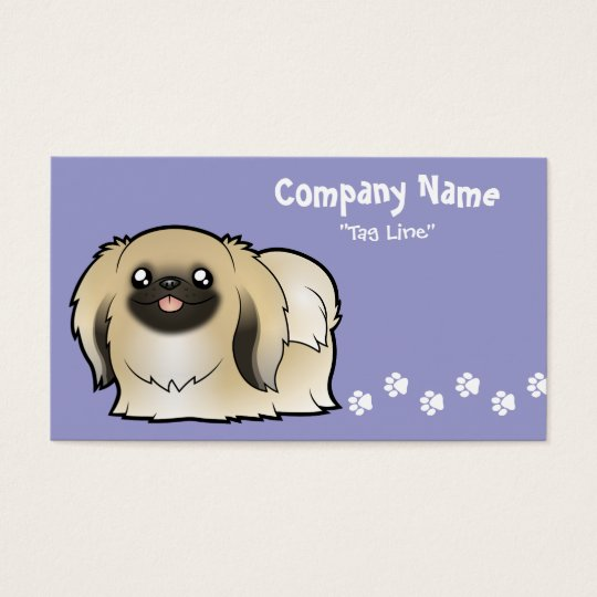 Cartoon Pekeingese (show cut) Business Card