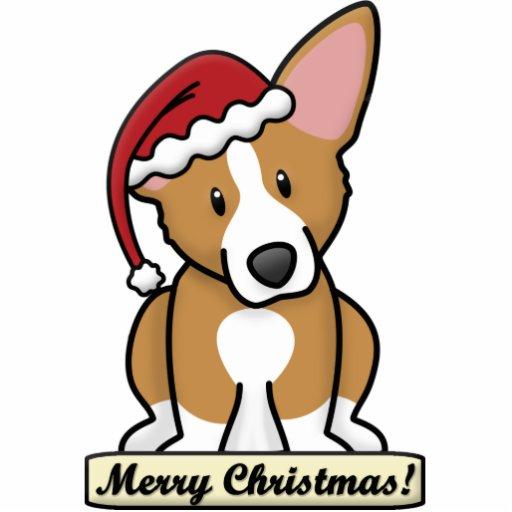 Cartoon Pembroke Welsh Corgi Christmas Ornament Photo Sculpture
