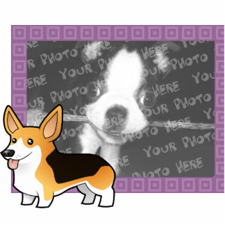Cartoon Pembroke Welsh Corgi Photo Sculpture Magnet