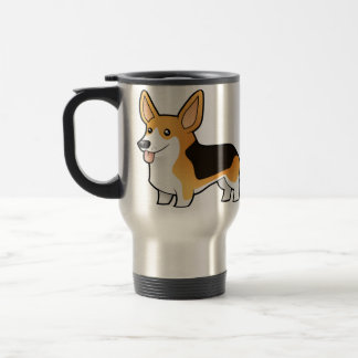 Cartoon Pembroke Welsh Corgi Travel Mug