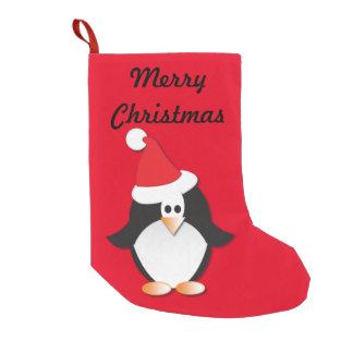 Cartoon Penguin Christmas Stocking