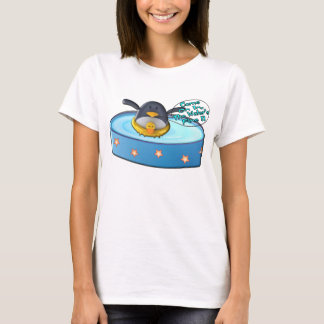 Cartoon Penguin In Pool T-Shirt