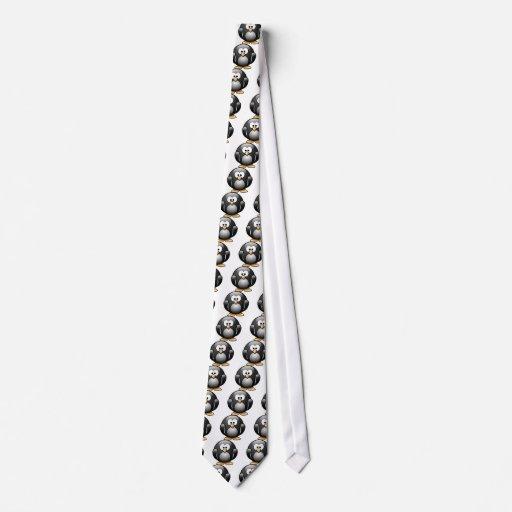 Cartoon Penguin Neck Tie