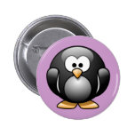 Cartoon Penguin Pinback Button
