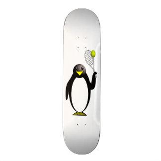 Cartoon Penguin Playing Tennis Skateboard Decks