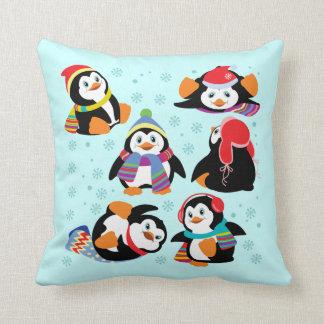 cartoon penguins cushion