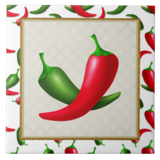 Cartoon Peppers fun kitchen tile