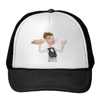 Cartoon Perfect Hotdog Butler Cap