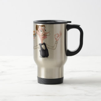 Cartoon Perfect Hotdog Butler Travel Mug