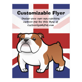 Cartoon Pet with Flag 21.5 Cm X 28 Cm Flyer