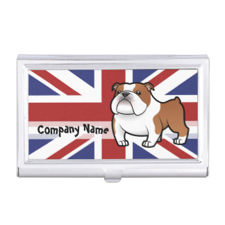Cartoon Pet with Flag Business Card Holder