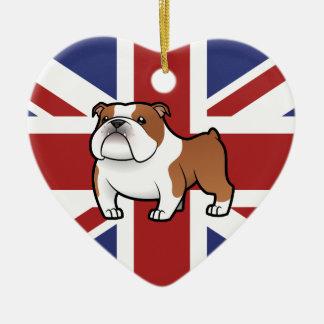 Cartoon Pet with Flag Christmas Ornament