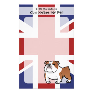Cartoon Pet with Flag Custom Stationery