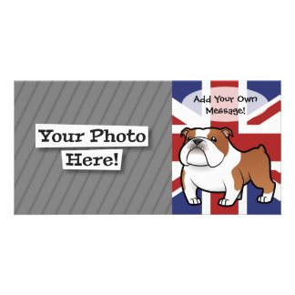 Cartoon Pet with Flag Customized Photo Card