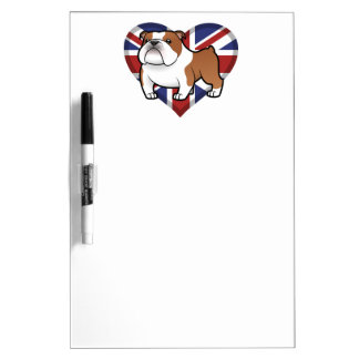 Cartoon Pet with Flag Dry Erase Board
