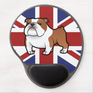 Cartoon Pet with Flag Gel Mouse Pad