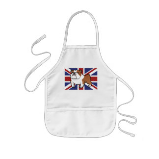 Cartoon Pet with Flag Kids Apron