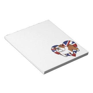Cartoon Pet with Flag Notepad