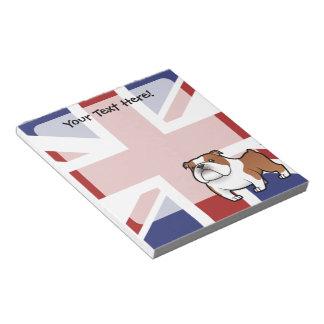 Cartoon Pet with Flag Notepads